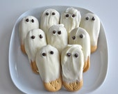 White Chocolate Ghost Cookies 2 Dozen