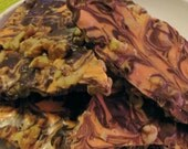 Harvest Bark - Belgian Dark and White Chocolate with Walnuts - Great for Parties - Gift Giving - Snacking