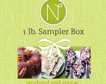 Chocolate Sampler Box 1 Lb.