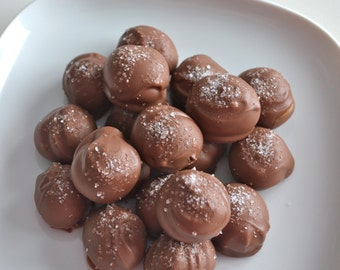 Chocolate Sea Salt Caramel Truffles 1 Pound
