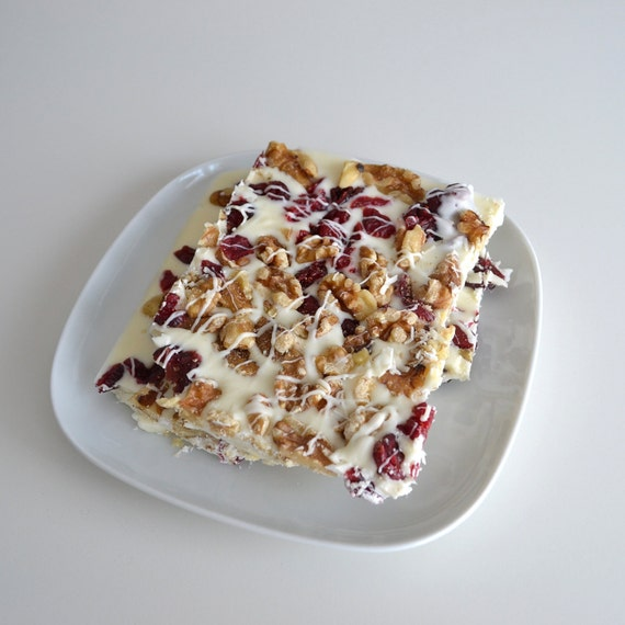 Organic Cranberry Walnut White Chocolate Candy