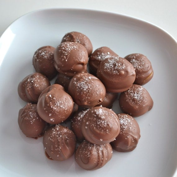 Chocolate Sea Salt Caramel Truffles 1 Pound