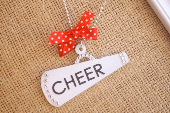 Cheer Metal Megaphone Cheerleader Necklace Cheer Mom