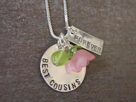 Best Cousins Forever Necklace Hand Stamped