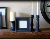 5x5 black stacked handmade picture frame . . . glass included