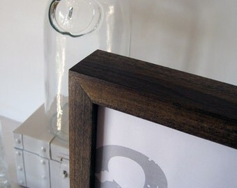 8x8 Poplar hardwood frame with Dark Walnut stain . . . handmade picture frame
