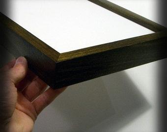 8x10 Poplar hardwood frame with Dark Walnut stain . . . handmade picture frame