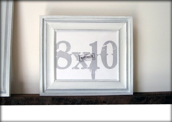 8x10 white picture frame cove style rustic handmade picture frames