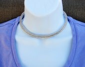 Viking Knit Fine Silver Necklace 15 Inches in Length