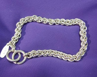 Handmade Sterling Chainmaille Bracelet in the Jens Pind Weave 8.5 Inches in Length