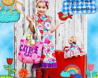 Girls Peasant Dress - Toddler Dress - Tea Party Dress ---