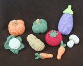 crochet food items crocheted play food you choose three
