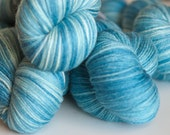 silky merino sock yarn - little boy blue