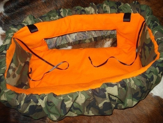 Shopping Cart Cover Camo Military Hunter Orange Seat READY TO SHIP includes pillow
