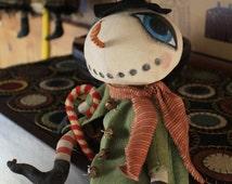 Jack Frost - Primitive Folk Art Snowman Epattern