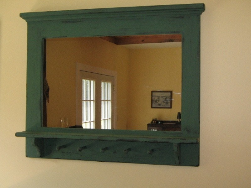 Primitive Mirror With Shaker Pegs