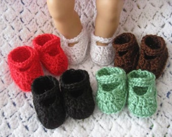 Crochet Doll Shoes for Bitty Baby and American Girl Doll - 5 for price of 1 - Lot 1