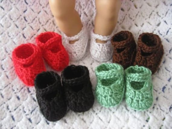Crochet Doll Shoes For Bitty Baby And American Girl Doll 5