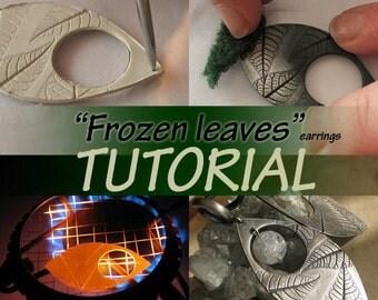 Frozen leaves TUTORIAL metal clay