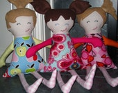 Elise Doll Pattern - 18 inch soft doll ebook pdf pattern