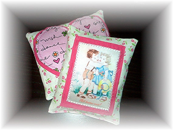 Pit Boo Boo Pads - All better now - Set of cute shabby chic hot cold pads