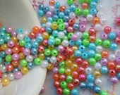 Colorful Pearly AB color Shiny beads 5mm Assorted colors 6 grams