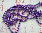 SALE Finish Iron 3.2mm ball chain necklace 19 inches Long 2 necklaces (with closure) Metallic PURPLE SIZE M