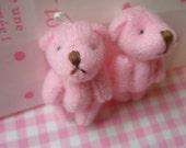 Small Teddy Bear dolls Set 2pcs PINK