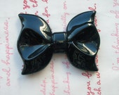 Dollar SALE Huge BLACK Bow cabochon 1pc ME