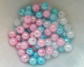 Pearly AB color Shiny beads 6mm 90pcs MIX