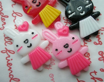 sale Head to Toe Cutie Bunny cabochons 4pcs