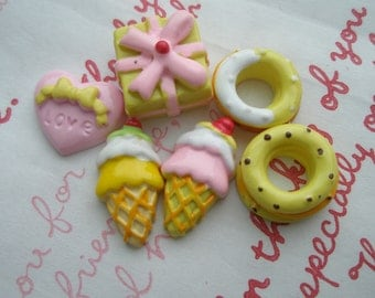 Sweets Mix Set H 5pcs Yellow tone