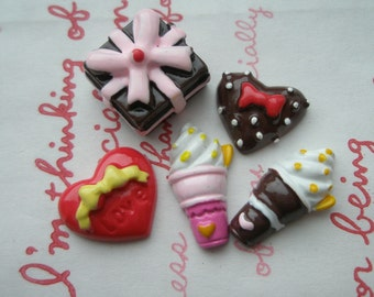 Sweets Mix Set G 5pcs Chocolate tone