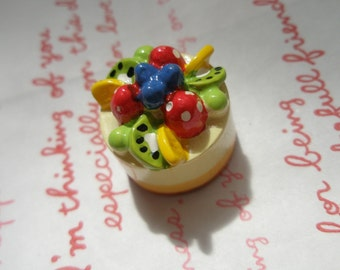 Chunky Fruits cheese whole cake cabochons 1pc