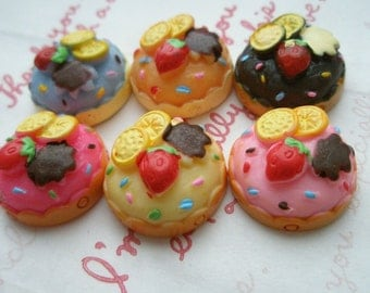 SALE Colorful Special Price Fruits cake Set 6pcs