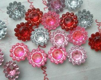 sale Round Flower shaped gems 40pcs 11mm