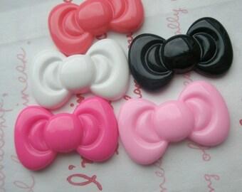sale Cute Round bow cabochonsMIX SET 5pcs Size-M