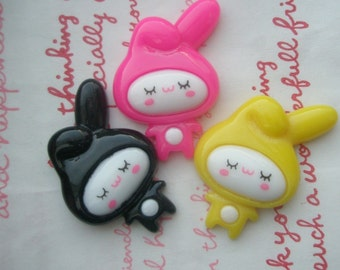Bunny Girl Cabochon Set 3pcs MIX