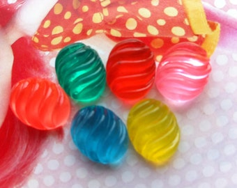 sale Small Clear Jelly Candy cabochons 6pcs