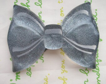sale GLITTER Huge  bow cabochon 1pc  Black