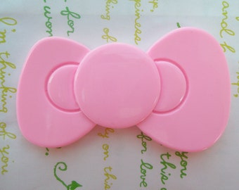 SALE Jumbo  bow cabochons 1pc Pink 80mm x 48mm
