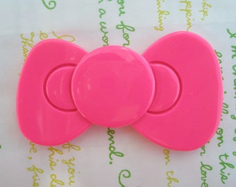 sale Jumbo Hello Kitty bow cabochons 1pc HOT Pink 80mm x 48mm