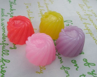 Jelly Pudding cabochons 4pcs SET A