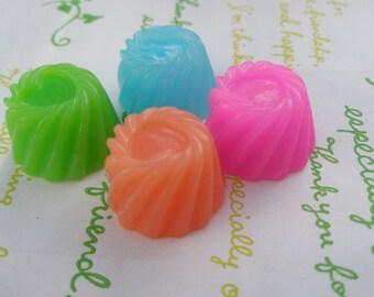 Jelly Pudding cabochons 4pcs SET B