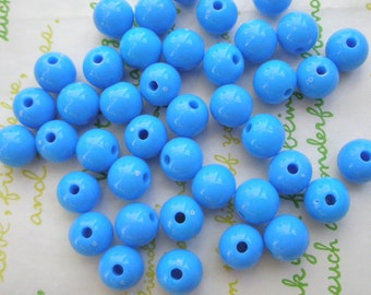 PLAIN acrylic Beads 25pcs Size 10mm Sky Blue
