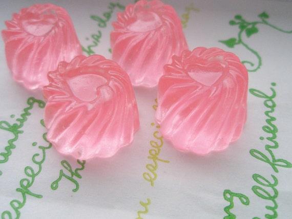 Clear Jelly Pudding cabochons 4pcs SET C Light pink
