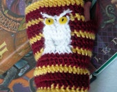 Harry Potter Owl Fingerless Mittens - Made to Order