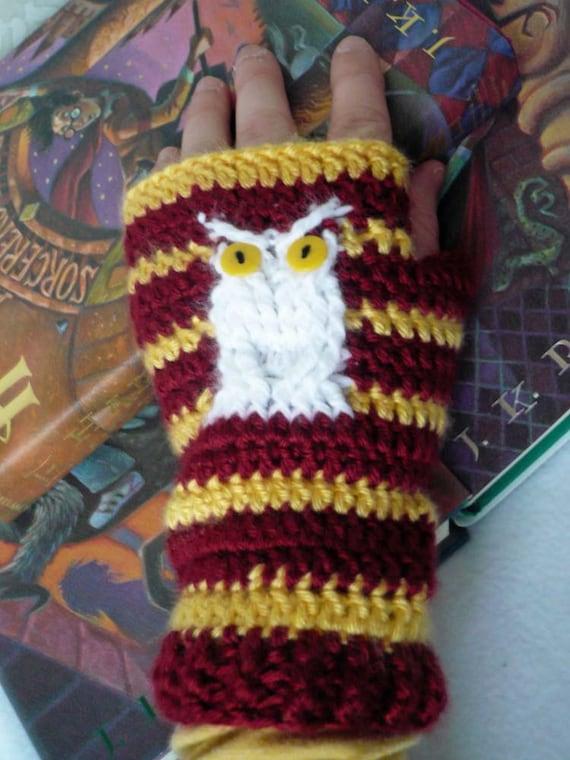 Harry Potter Owl Fingerless Mittens - Made to Order