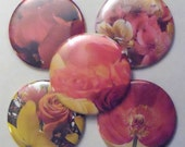 OOAK Flower Magnets - Set of 5