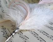 Feather Hat Pin / Blush Pink